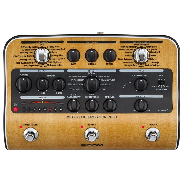 Zoom AC-3 Acoustic Guitar Effects Creator