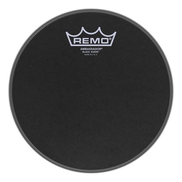 Remo BA-0808-ES 8inch Black Suede Ambassador Batter Drumhead