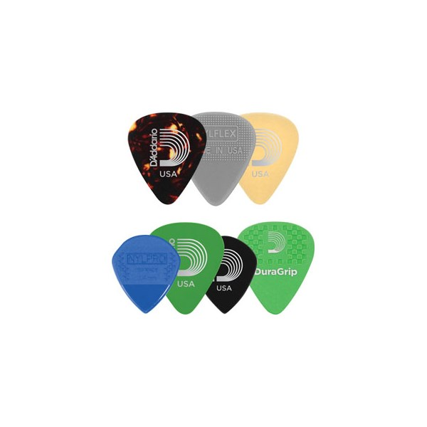 D'Addario Planet Waves 1XVP6-5 Assorted Guitar Picks, 7-pack, Heavy