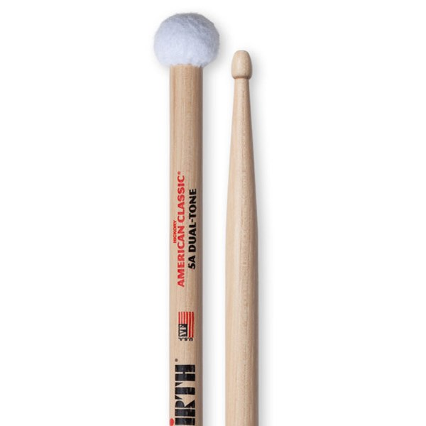 Vic Firth 5ADT American Classic Dual Tone Wood Tip Drumstick & Mallet