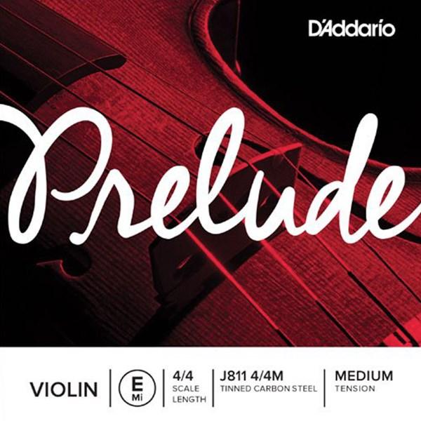 D'Addario J811 4/4M Prelude Violin Single E String Medium