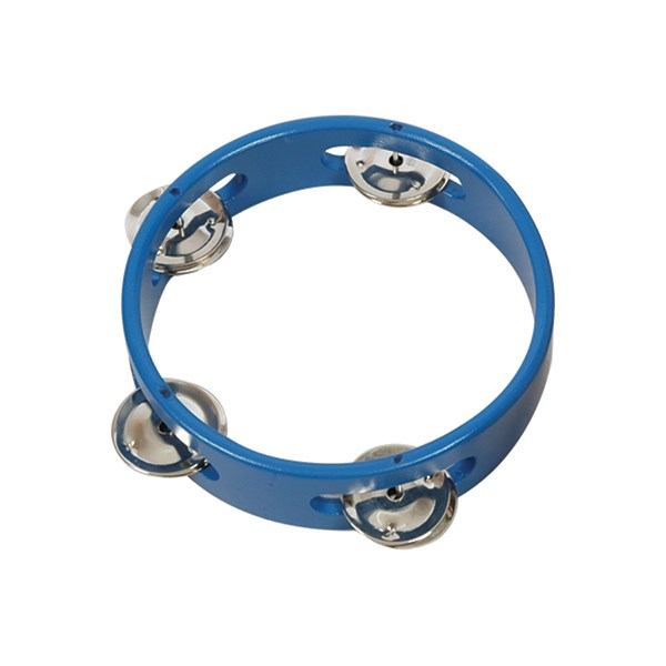IQ Plus IQ-W023-01 6inch Blue Wood Tambourine