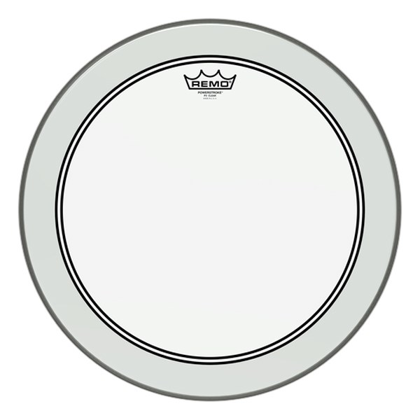 Remo P3-0318-BP 18-Inch Powerstroke 3 Clear Batter Head