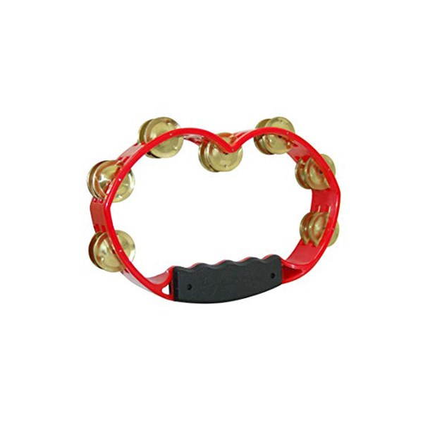 Tycoon TBH-R BB Red Hand Held Tambourine Brass Jingles
