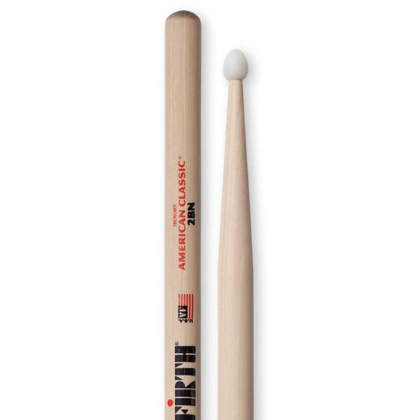 Vic Firth 2BN American Classic Drumsticks - Nylon Tip