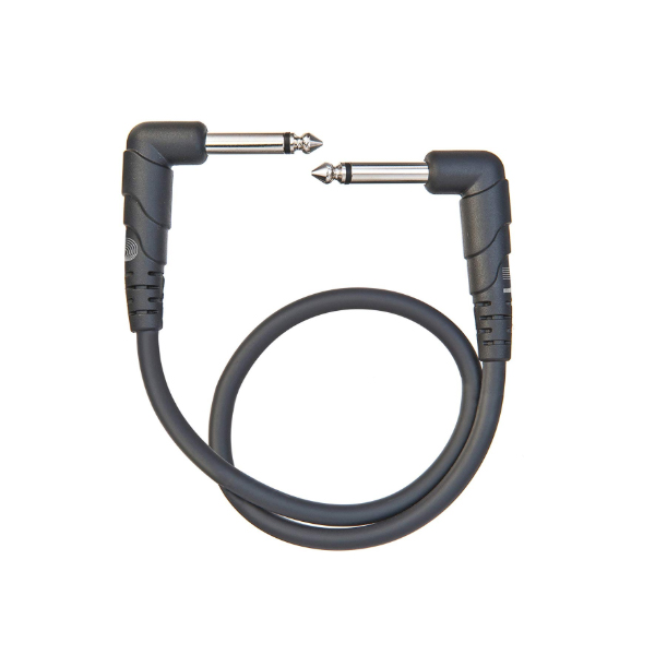 D'Addario Planet Waves PW-CGTPRA-01 Classic Series Patch Cable Right-Angle - 1 Foot<br>PW-CGTPRA-01