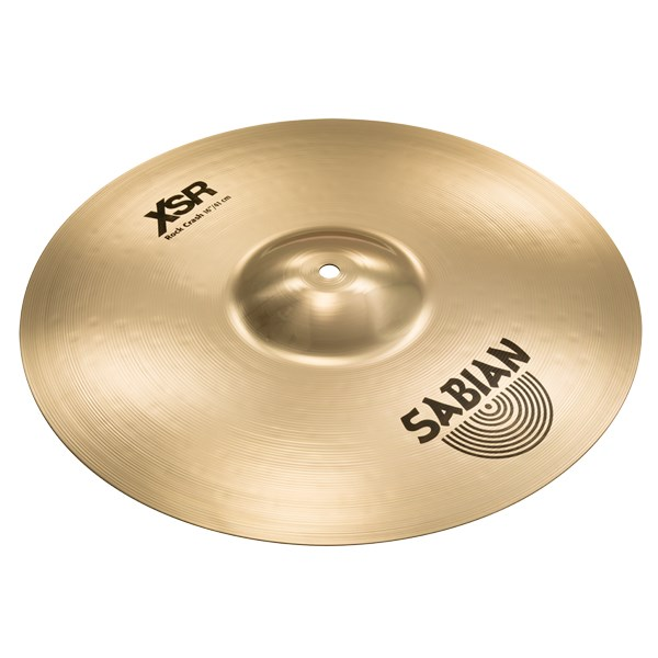 Sabian XSR1609B 16-Inch XSR Rock Crash Cymbal - Brilliant Finish
