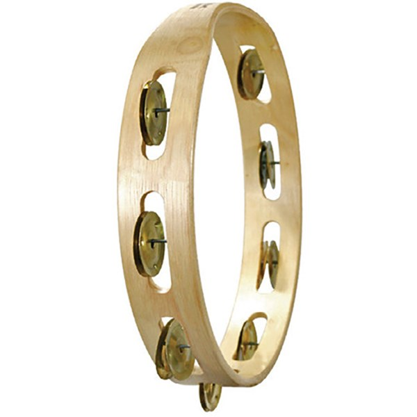 Tycoon TBW-10S BB Souble Row Wooden Tambourine with Brass Jingles