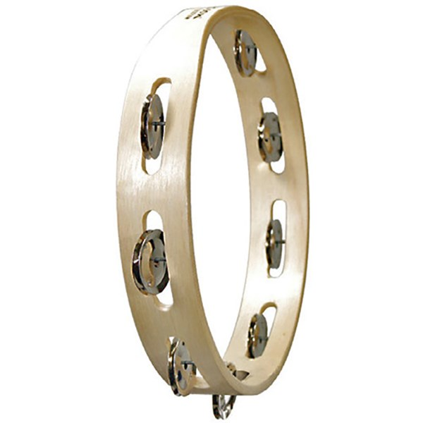 Tycoon TBW-10S BS Souble Row Wooden Tambourine with Steel Jingles