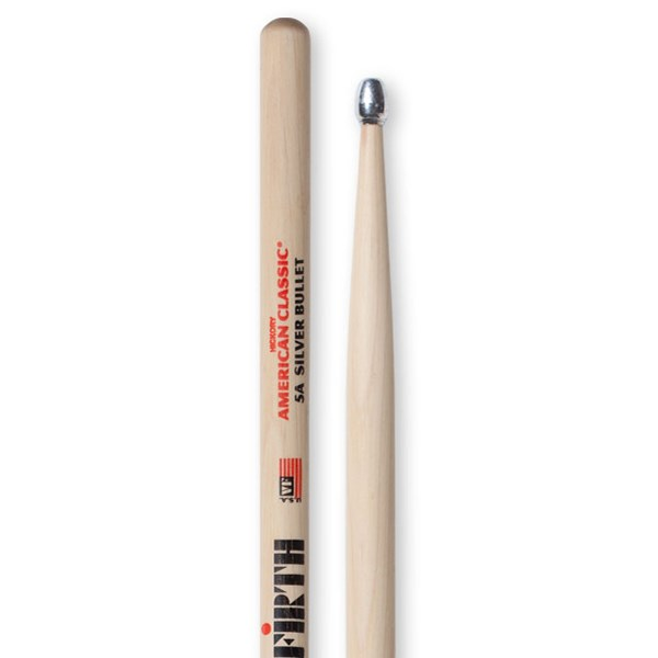 Vic Firth 5ASB American Classic Silver Bullet Drumsticks - Aluminium Tip